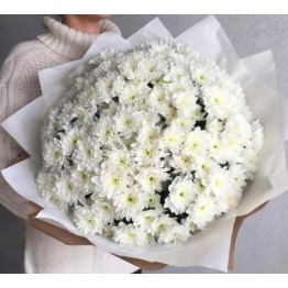 классический букет хризантем