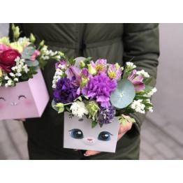 Милая коробочка цветов