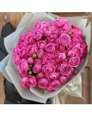 Кустовая пионовидная роза Мисти Баблз