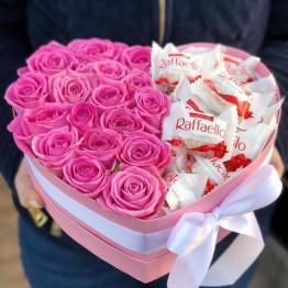 сердце с сладостями