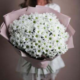 букет белых хризантем 17 шт.