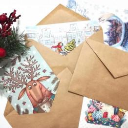 открытка в конверте