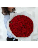 """51 роза """"Ред Наоми"""""""