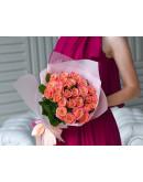 Букет с розами мисс пигги