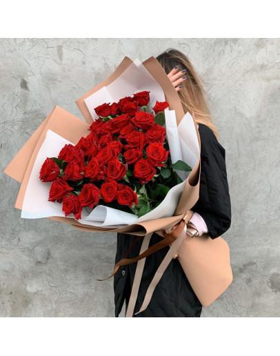 Шикарный букет роз Эквадор