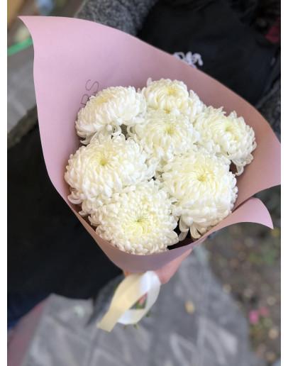 Моно букет из одноголовых хризантем