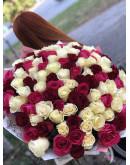 101 шикарная роза 80 см
