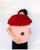 большая коробка роз