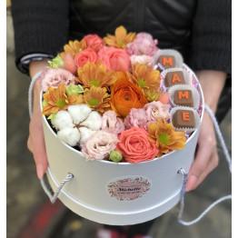 коробка цветочная для мамы