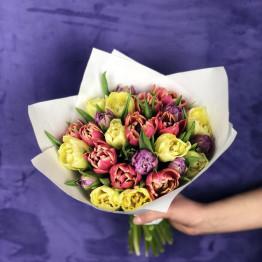 микс пионовидных тюльпанов 29 шт.